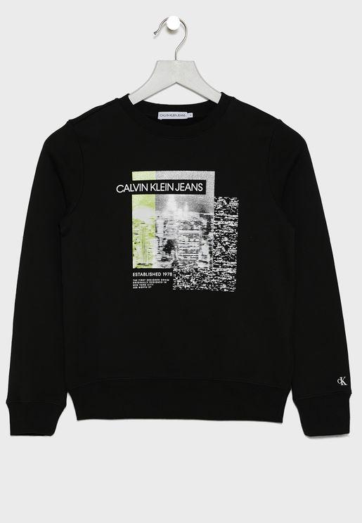 Kids Photo Print Sweatshirt