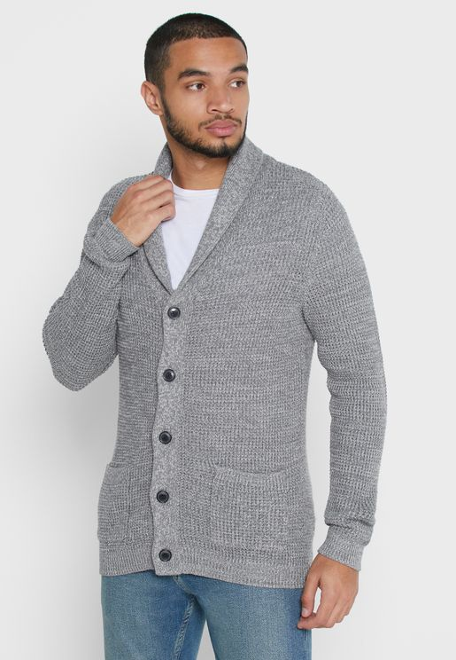 Knitted Shawl Neck Cardigan