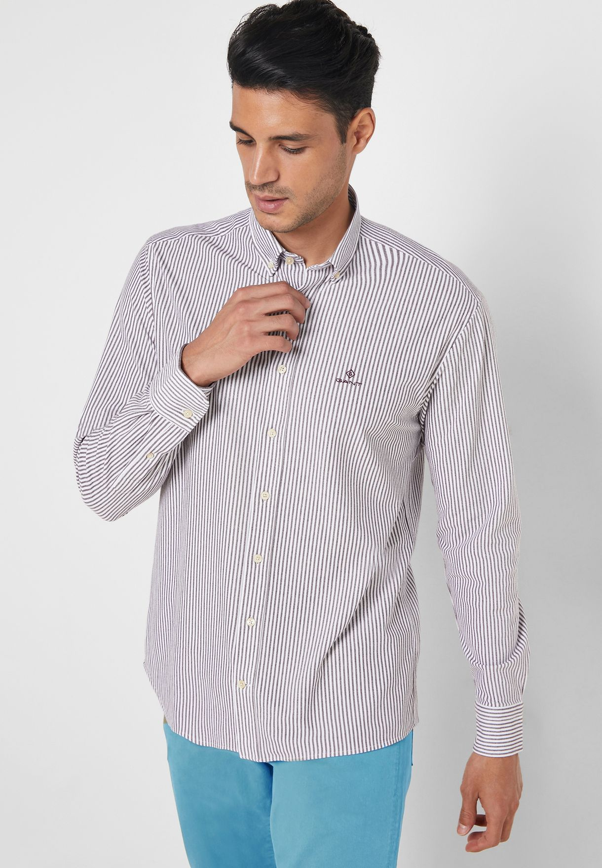 Tech Prep Striped Regular Fit Shirt