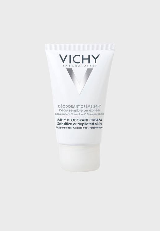 24hr Deodorant Cream For Sensitive Or Depilated Skin 40ml