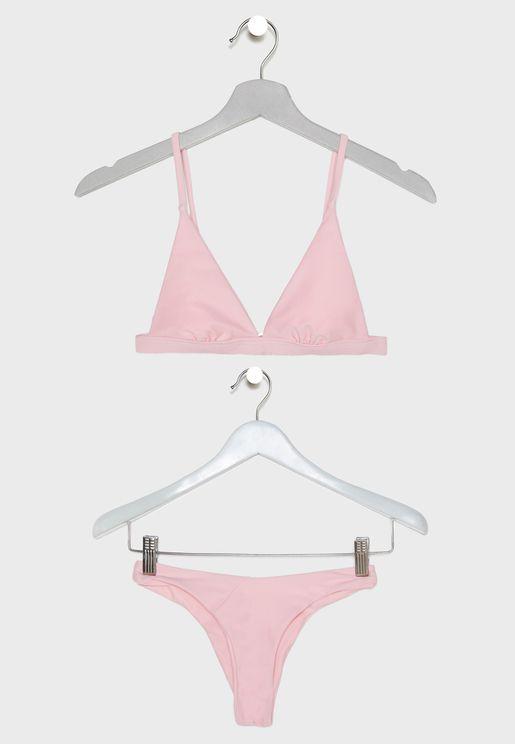 Triangle High Leg Bikini Set bca1d667c4