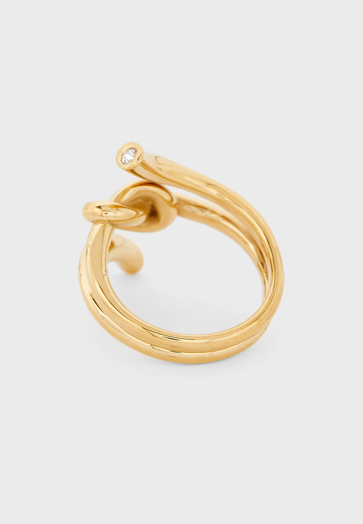 Wrapped Knot Ring