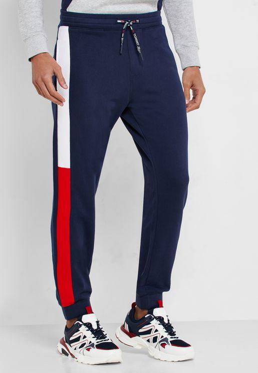 Jacquard Side Flag Panel Sweatpants