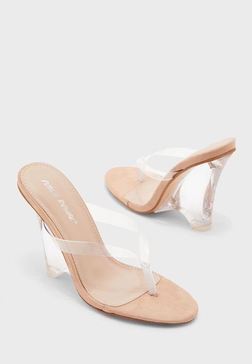 Glow Transparent Strap Sandal