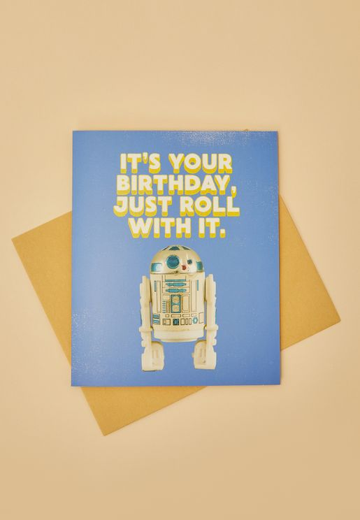 Just Roll With It Birthday Card