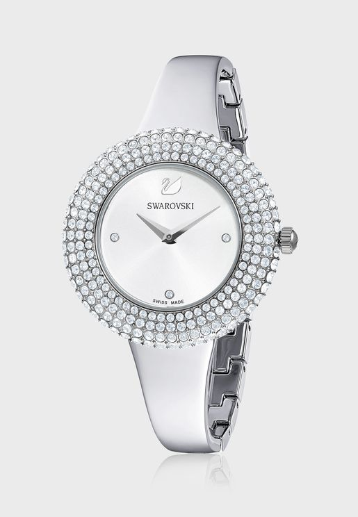 Crystal Rose Analog Watch