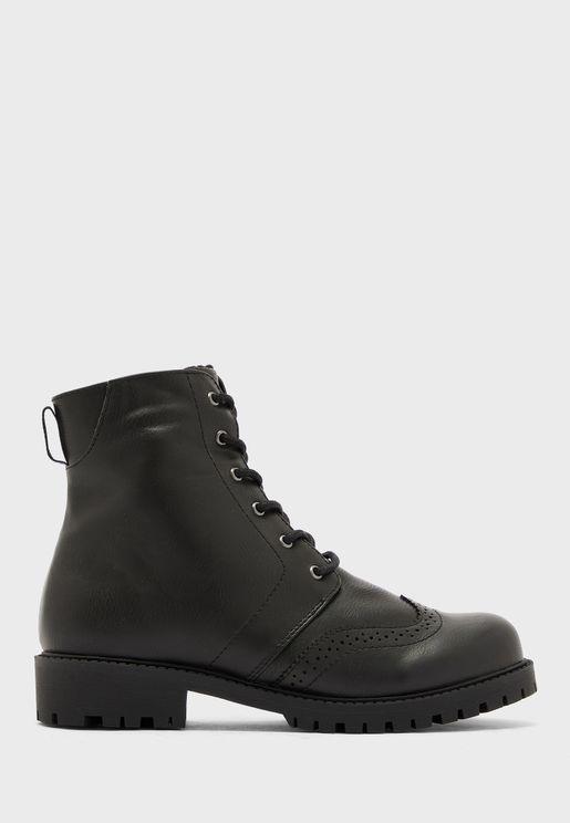 Glorianomi Mid Heel Ankle Boot