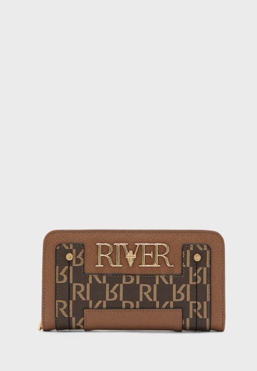 River Foldout Zip Around Purse