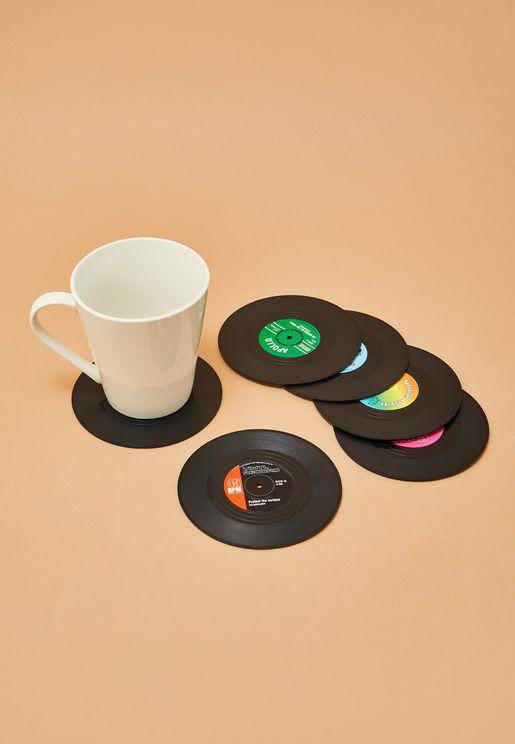 Vinyl Coasters Set of 6