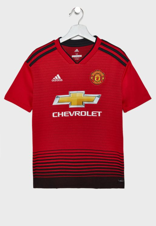 Youth Manchester United 18/19 Home Jersey