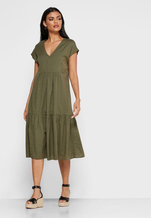 Pephem V-Neck Dress