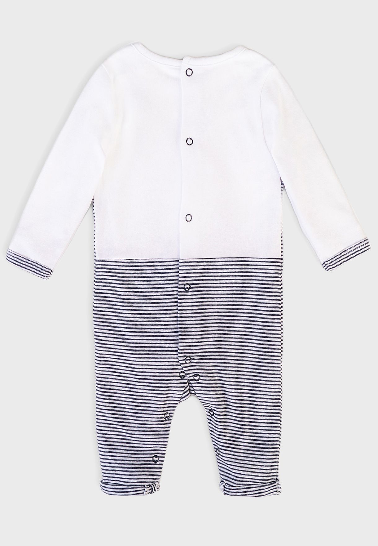 Infant Mock Dungaree Sleepsuit