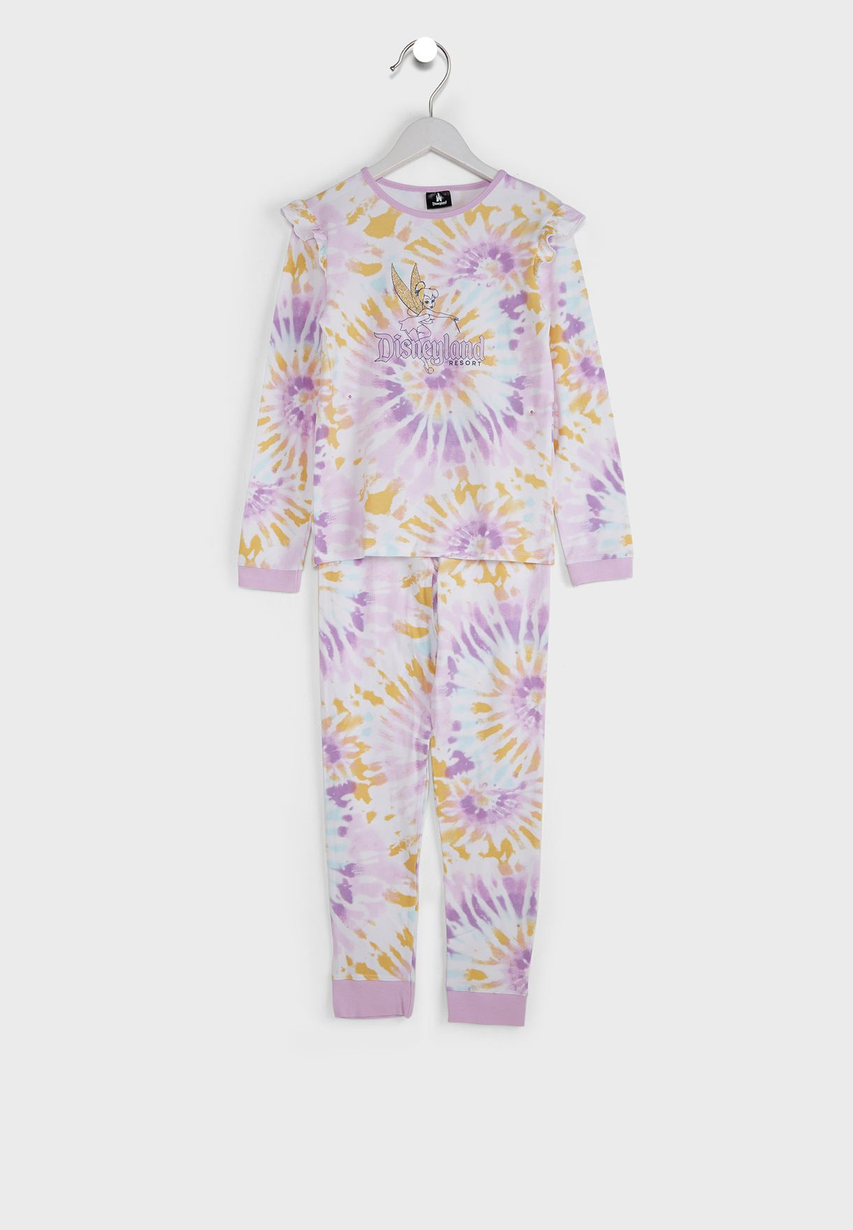 Kids Disneyland Rainbow Tinkerbell Pyjama Set