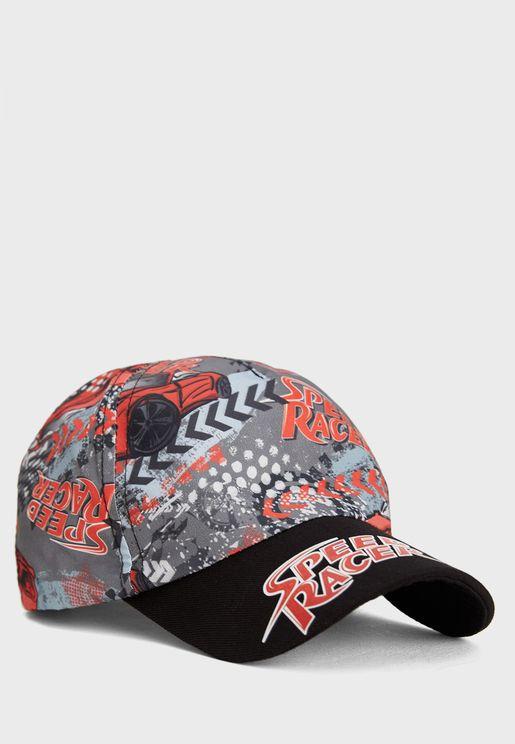 قبعة بطبعة جرافيك