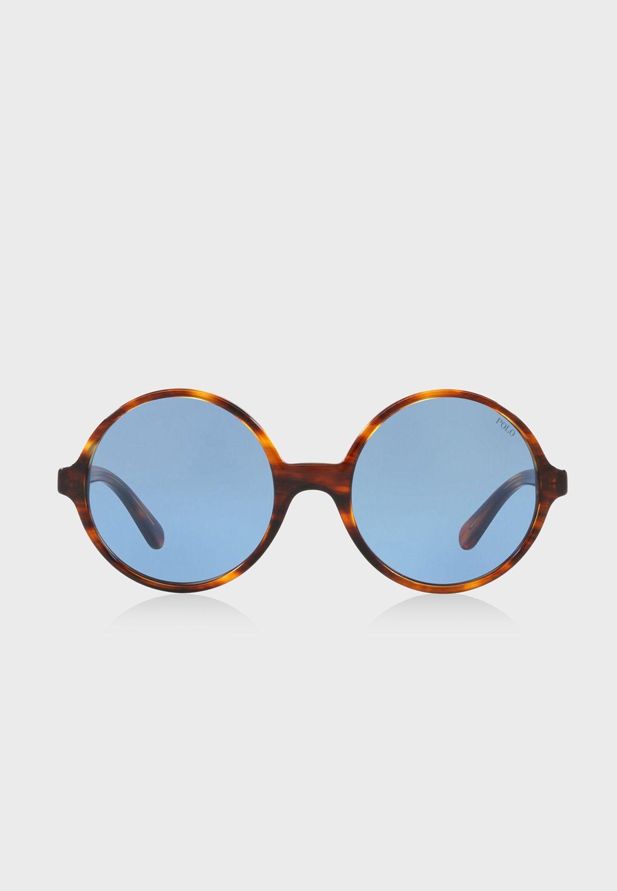 6bbb2b62e519 Shop Polo Ralph Lauren prints Round Sunglasses 8.05E+12 for Women in ...