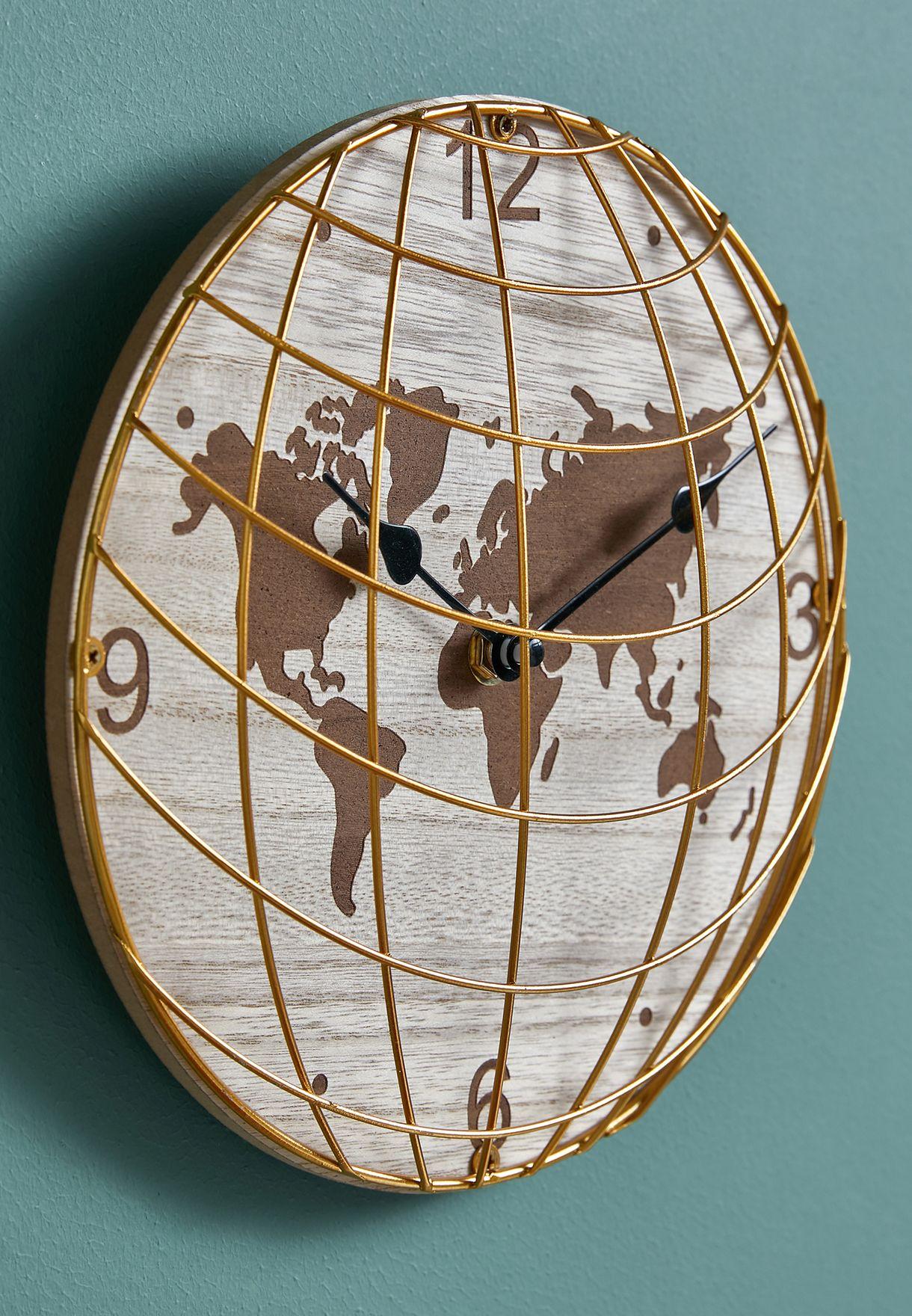 ساعة حائط بشكل الكرة الارضية