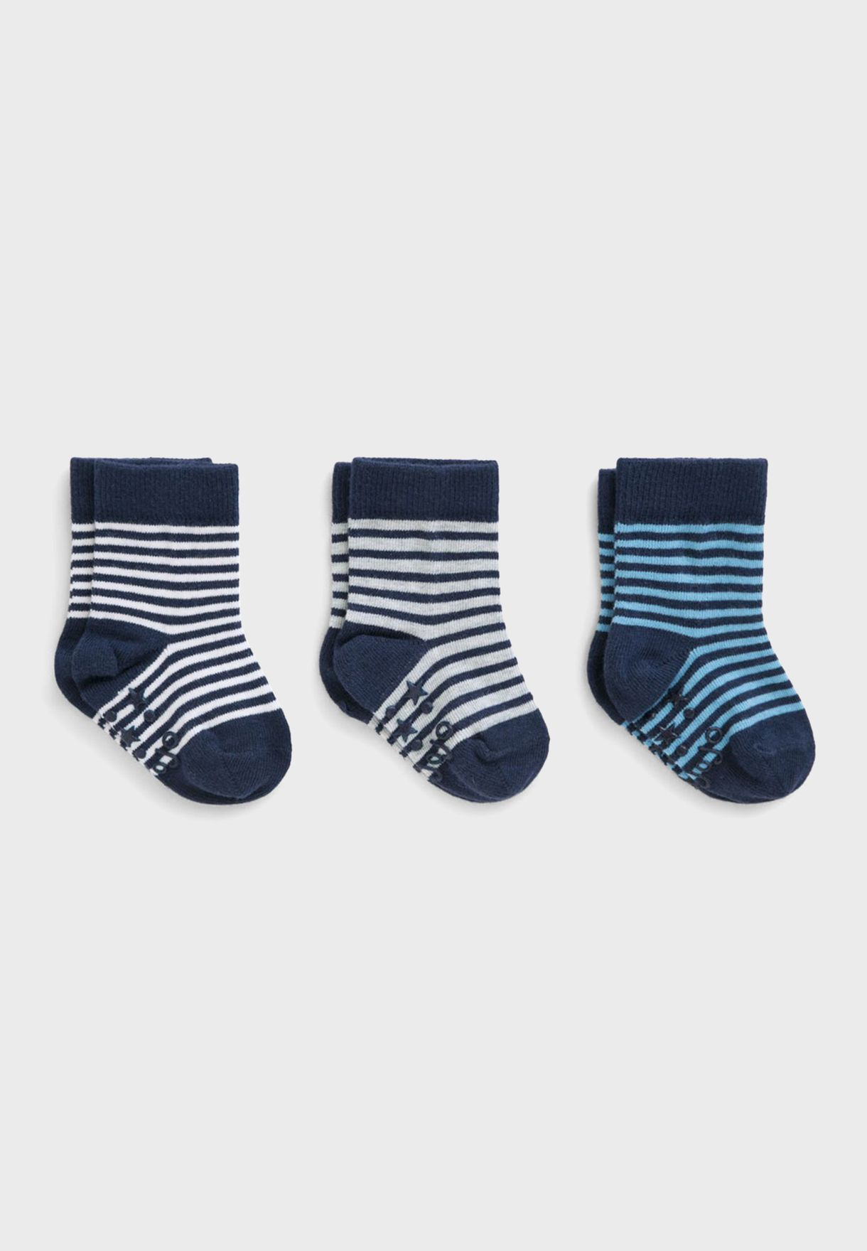 Kids 3 Pack Striped Socks