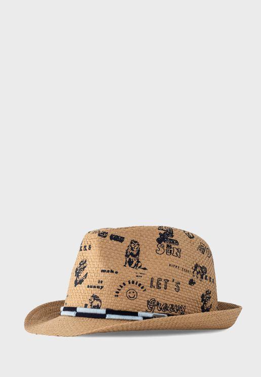 Kids Printed Bucket Hat