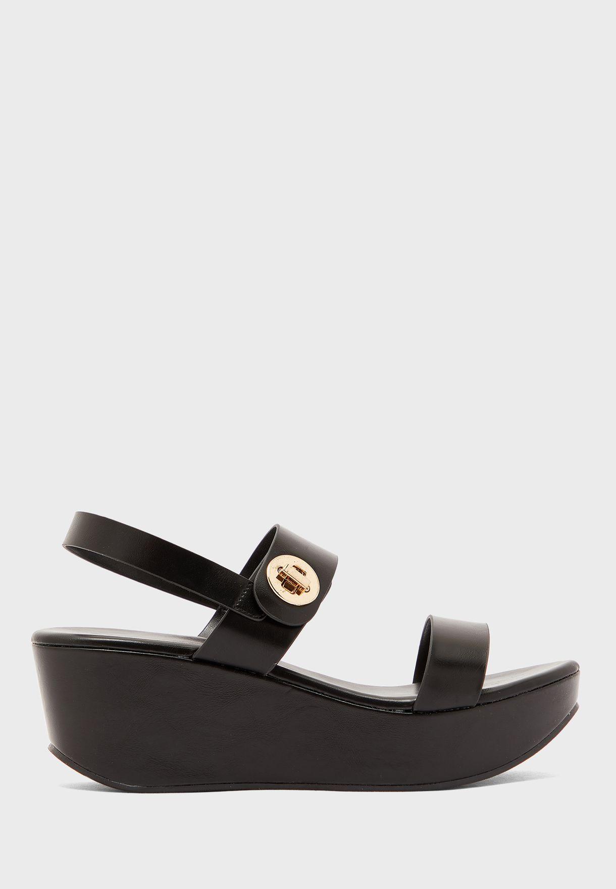 Buy Vincci black Casual Wedge Sandal