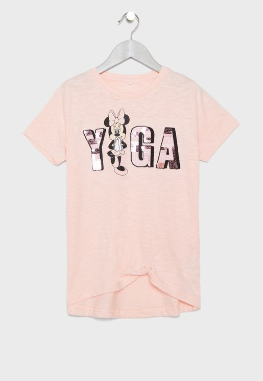 Kids Yoga Minnie Mouse T-Shirt