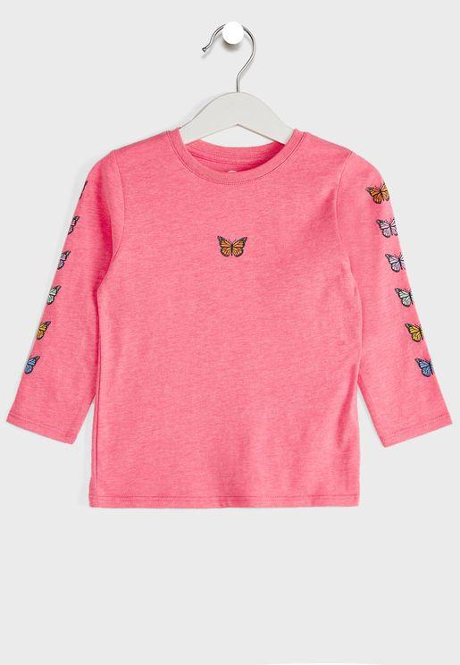 Kids Butterfly Sleeve T-Shirt