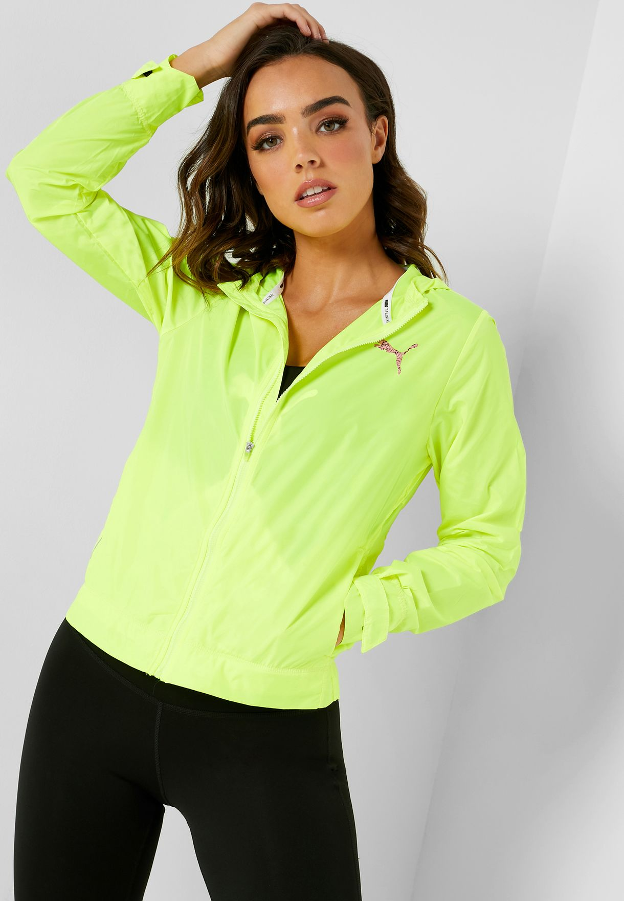 40bf7e83af1f7 Shop PUMA yellow Shift Packable Jacket 51823801 for Women in UAE ...
