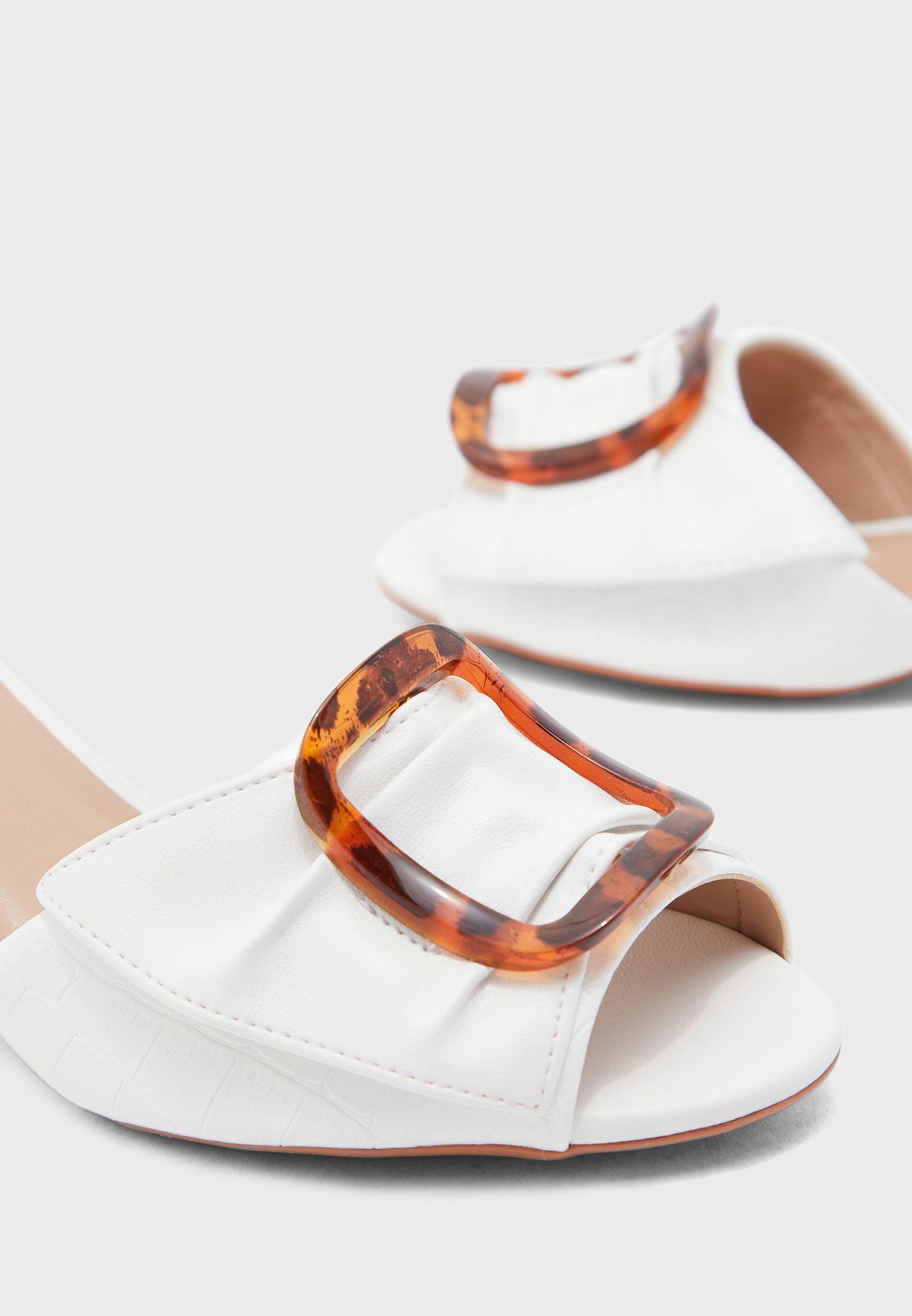 Wide Strap High Heel Sandal