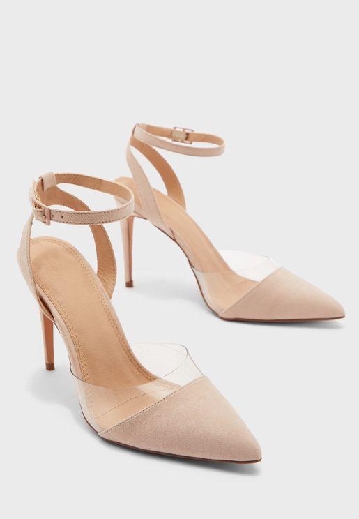 Szpilki Ankle Strap High Heel Pump