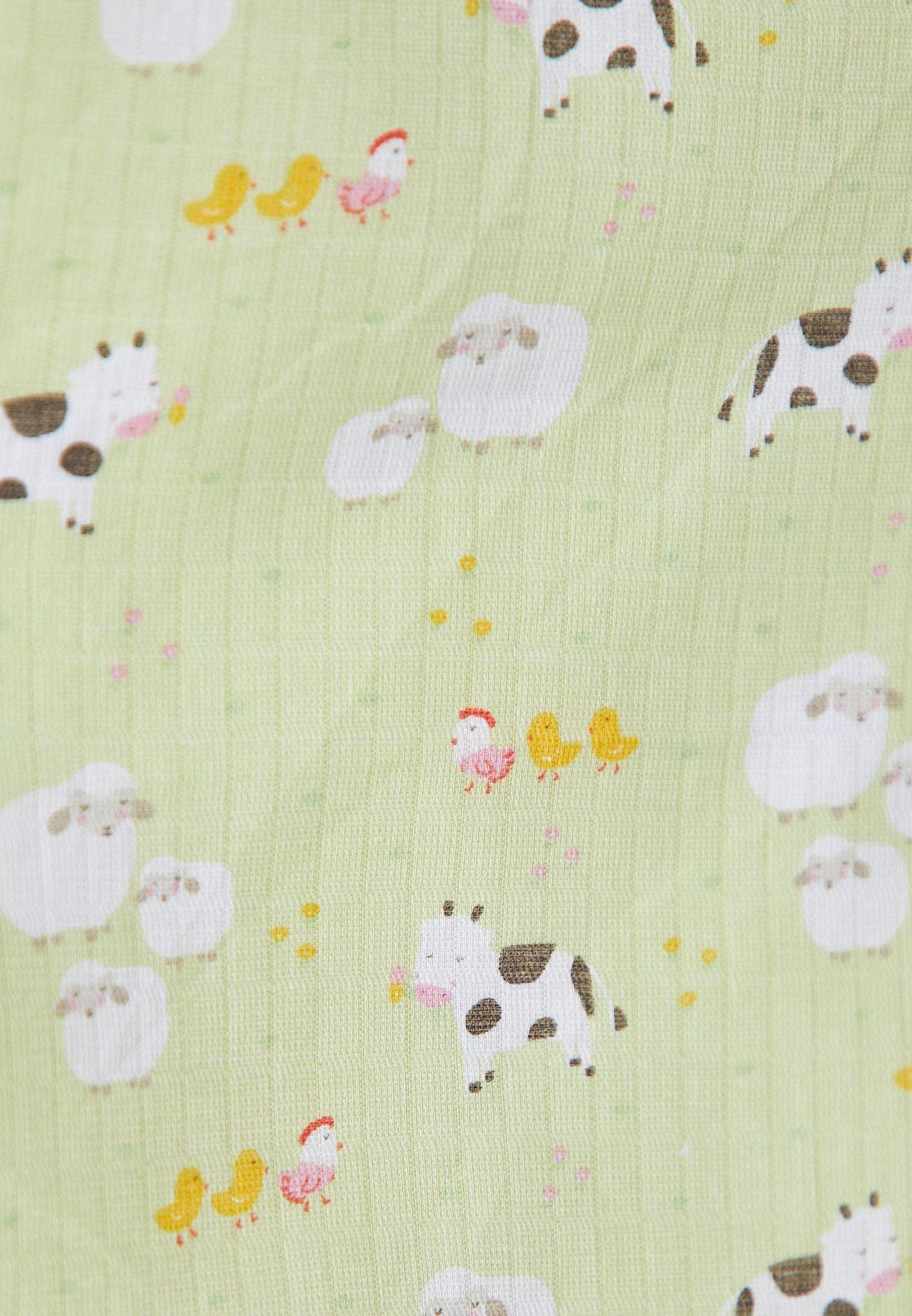 3 Pack Farmyard Friends Muslin Cloth