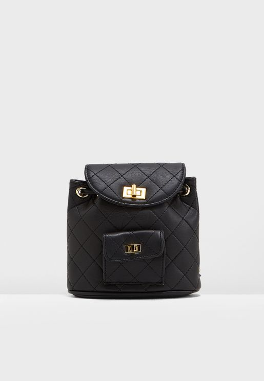 Quilted Pocket Detail Backpack