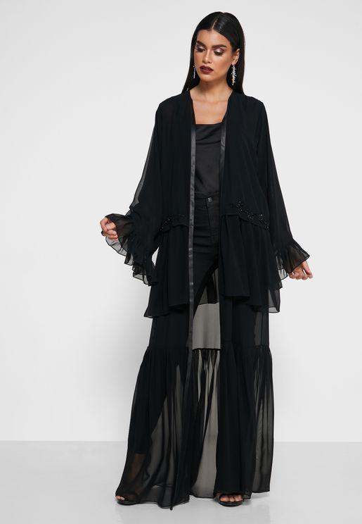 Ruffle Detail Abaya