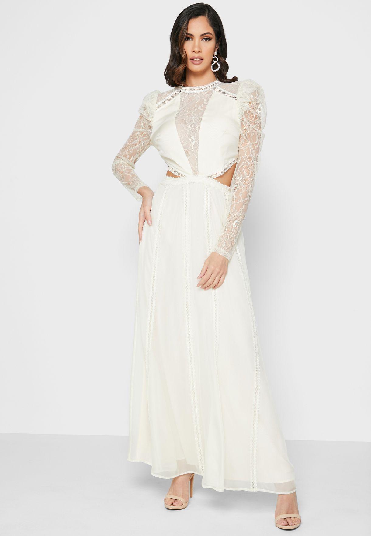 Lace Inserts Dress