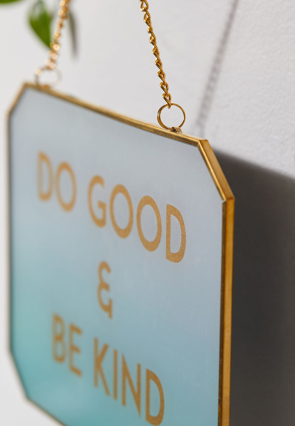 Do Good & Be Kind Hanging Glass Plaque - 20cm