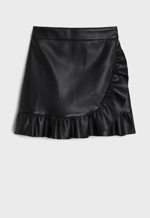 Kids Hem Ruffle Skirt