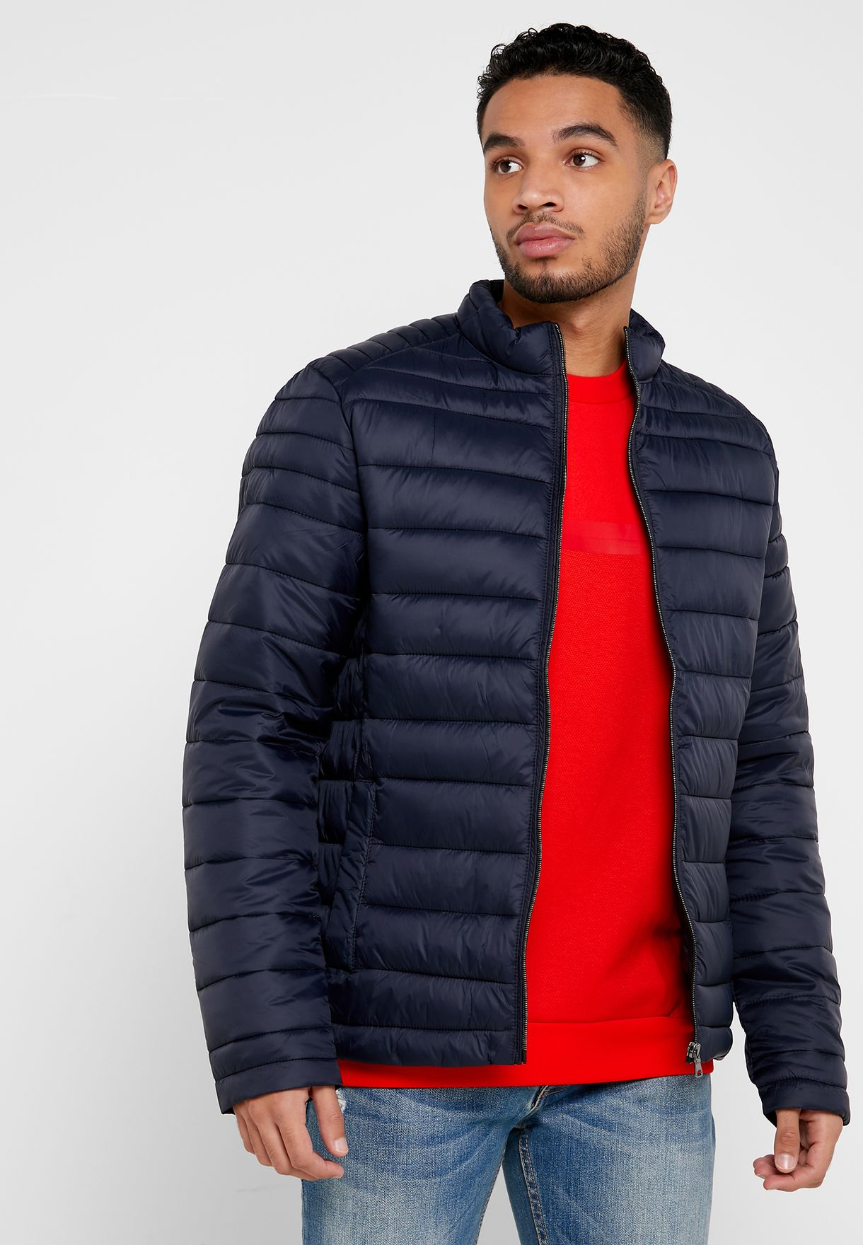 High Neck Quilted Jacket