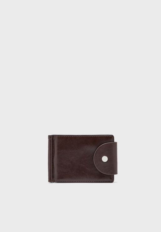 Faux Leather Snap Closure Wallet