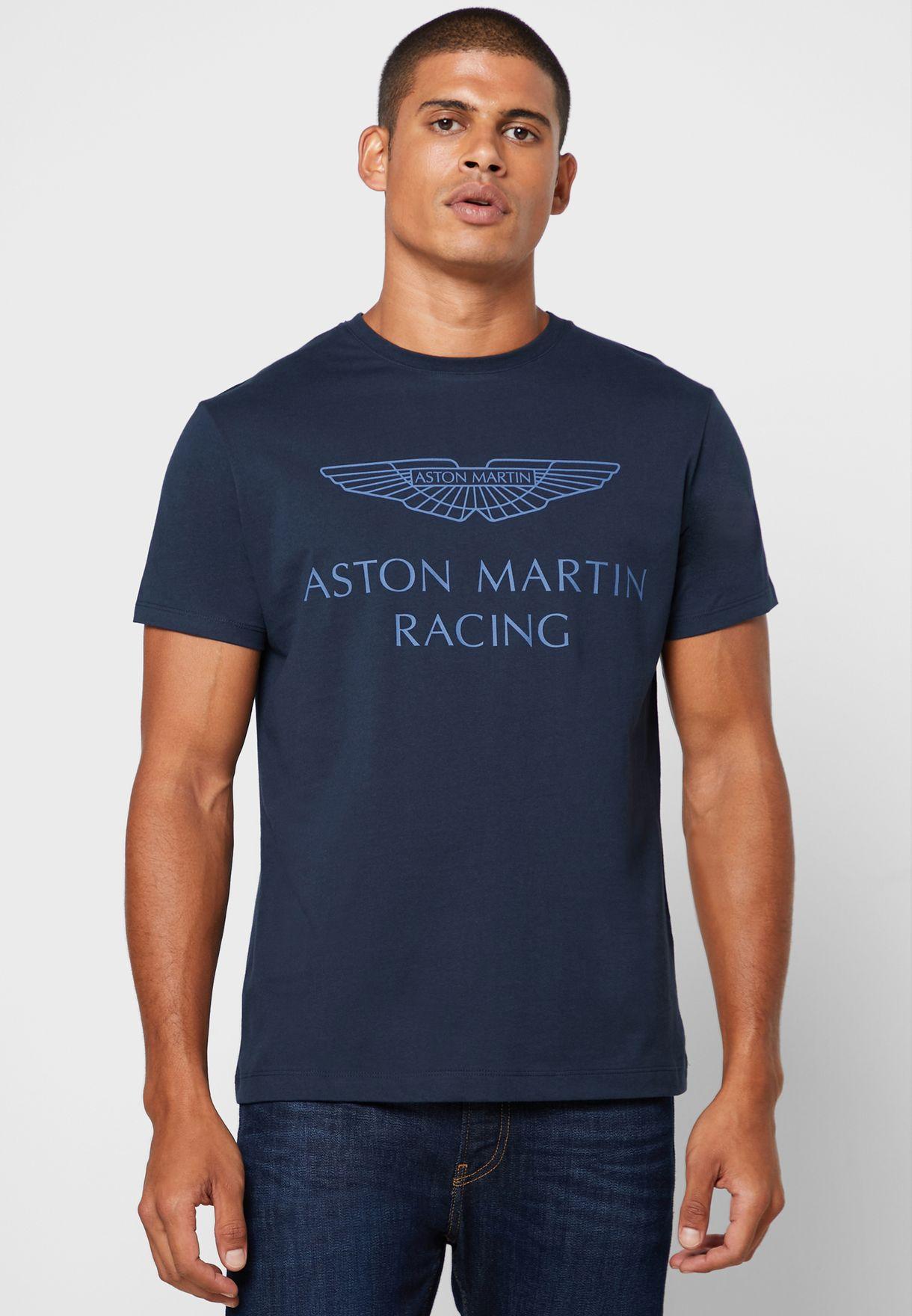 Buy Hackett Navy Aston Martin Racing Crew Neck T Shirt For Men In Mena Worldwide Hm500363