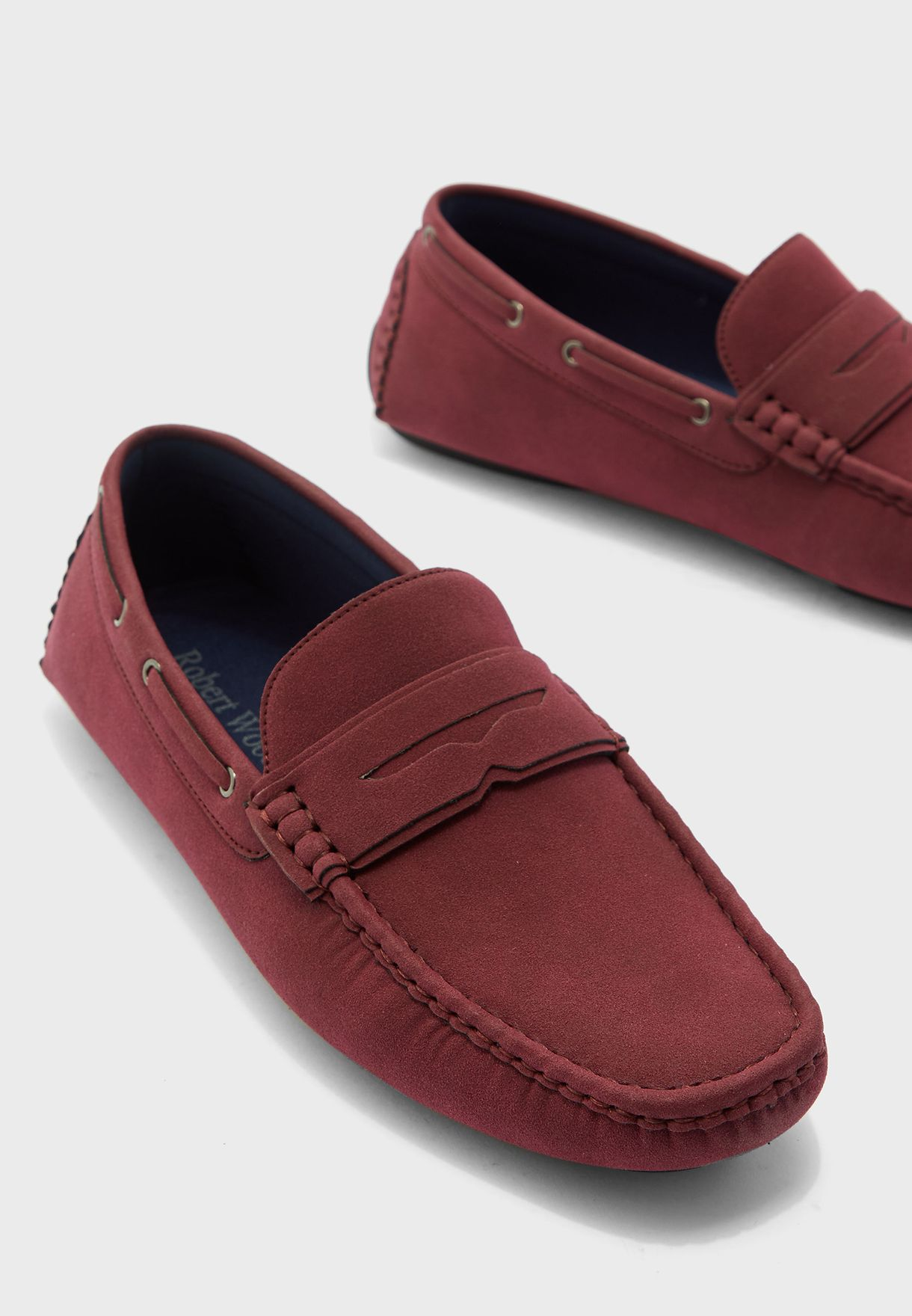 Faux Suede Driving Loafers