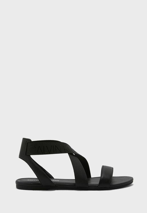 Ankle Elastic Flat Sandal