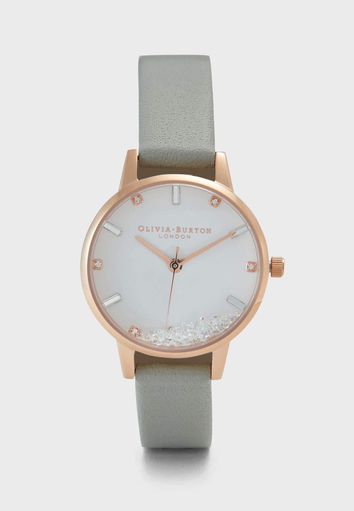 ساعة بكريستال سواروفسكي