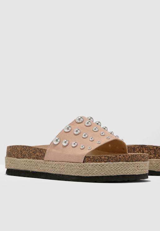 Cherry Flatform Sandal