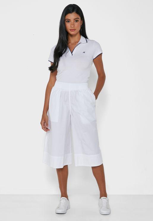 Wide Leg Logo Culottes