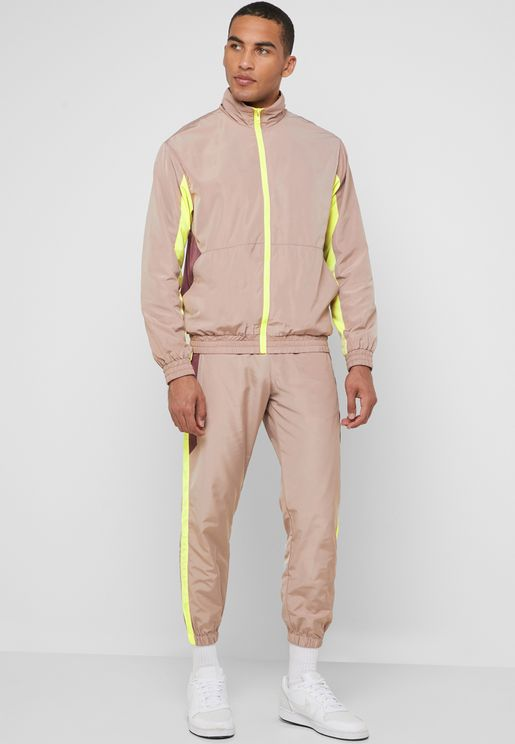Side Stripe Windbreaker Sweatpants