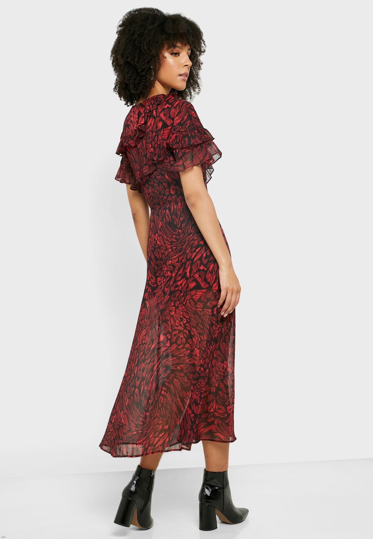 Printed Overlay Dress