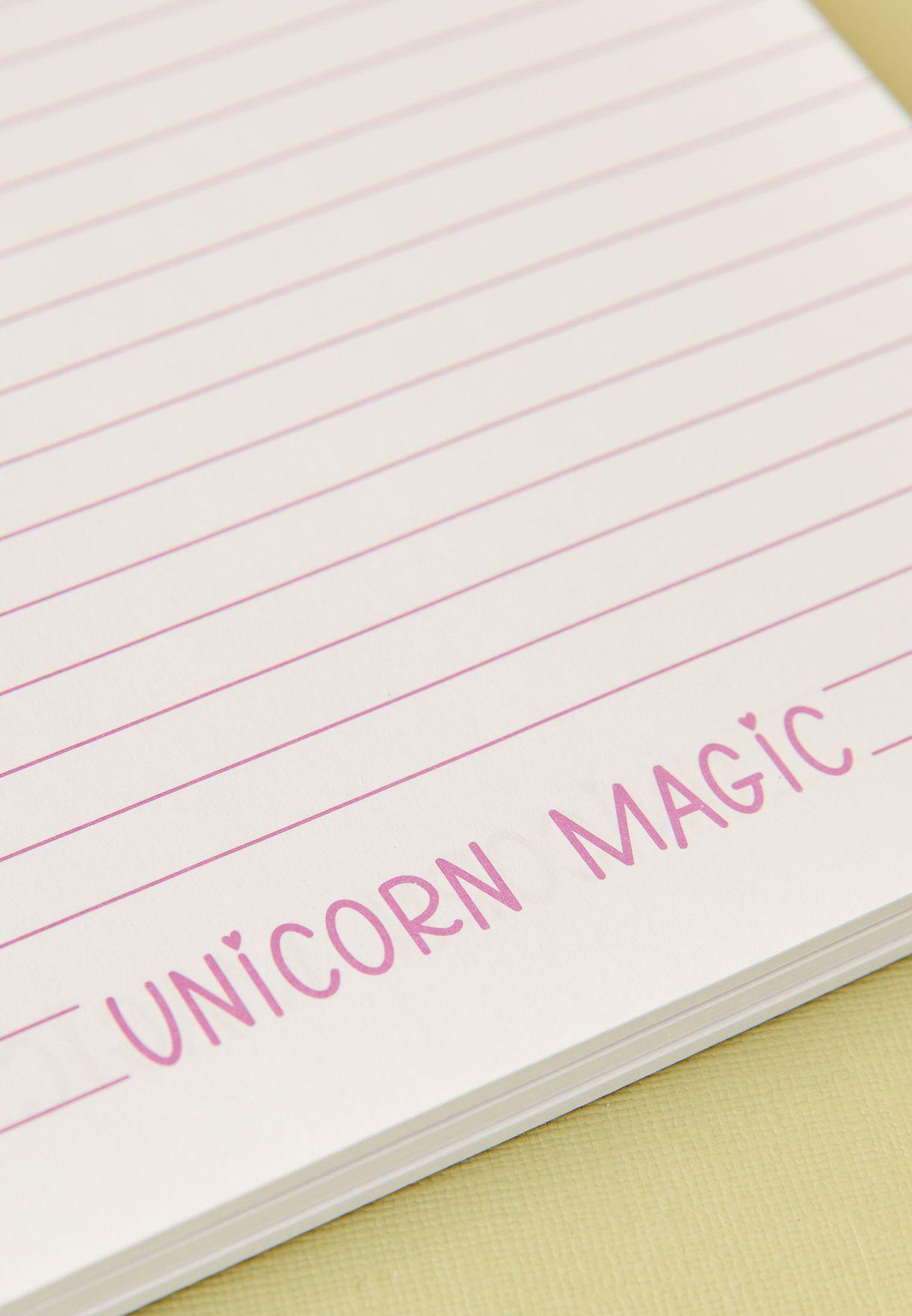 Fluffy Unicorn Notebook