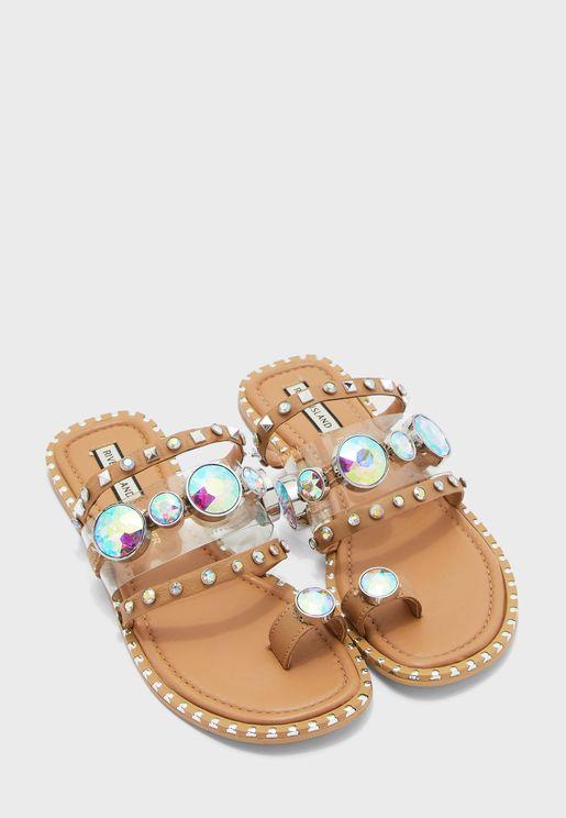 Flat Toe Loop Sandals