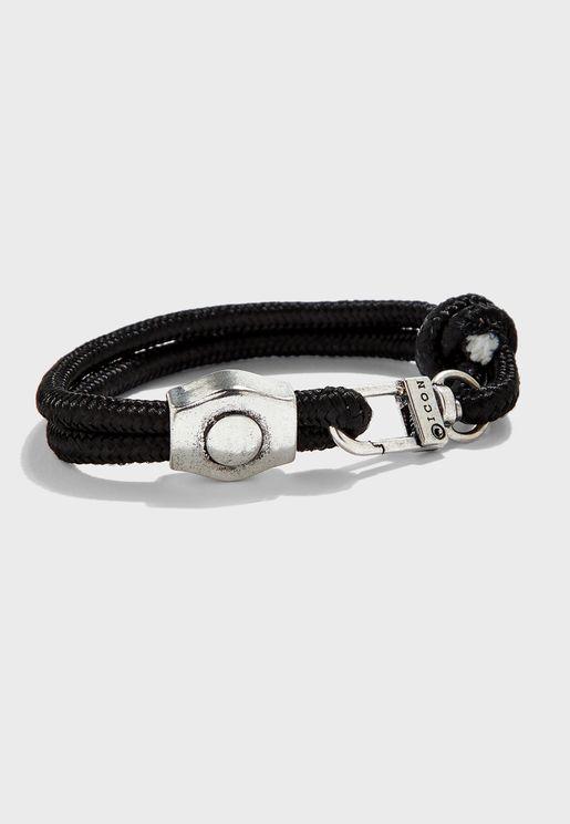 Hardware Charm Cord Bracelet