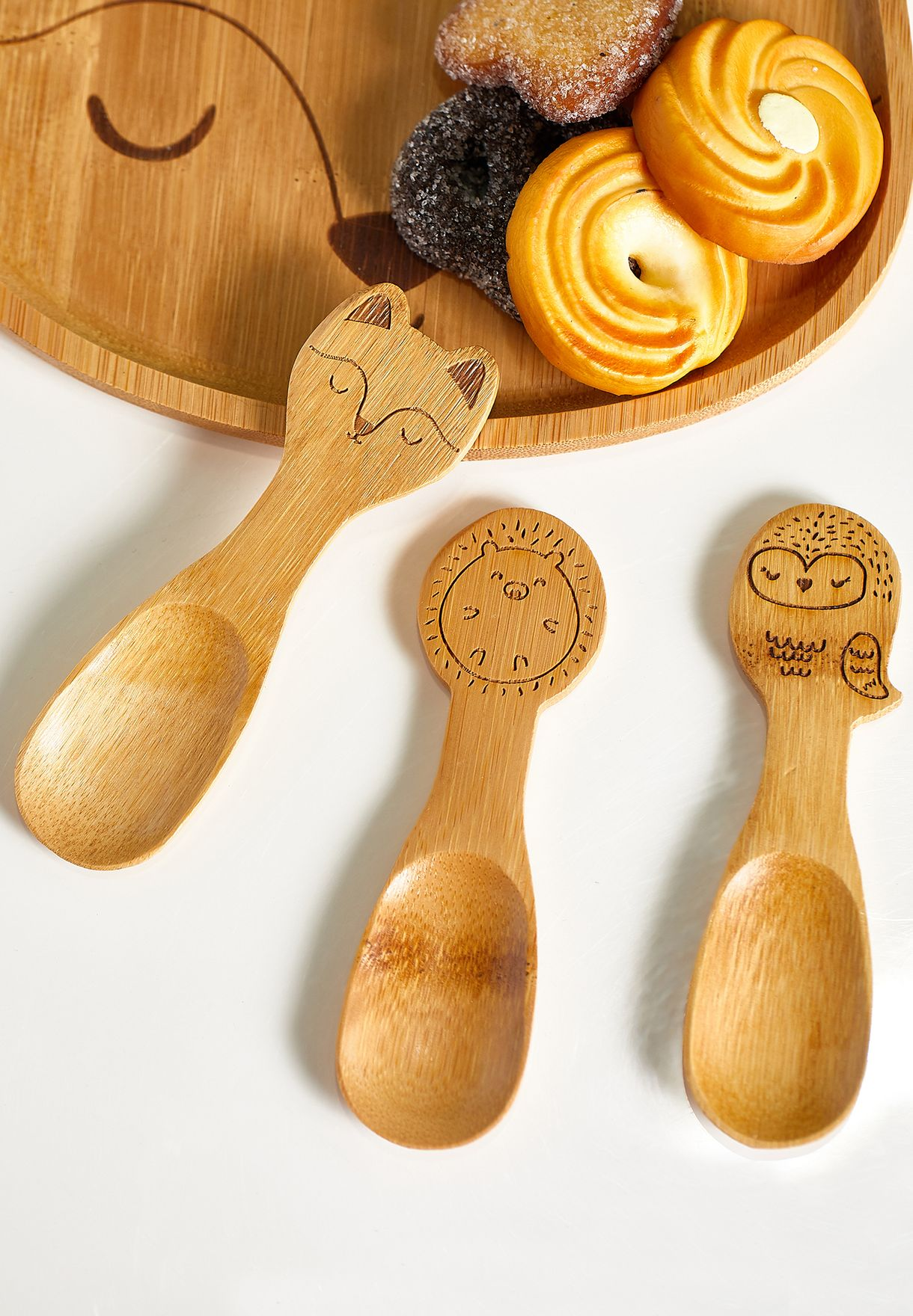 3 Pack Woodland Baby Bamboo Spoon