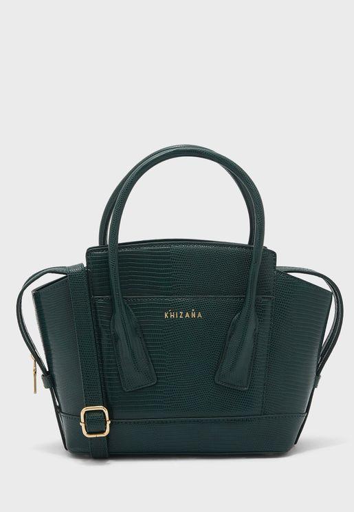 Texture Front Pocket Handbag