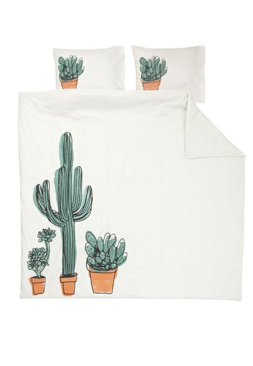 Cactus Printed Bedding Set - King 240x220cm